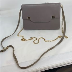 Vintage Christian Dior Taupe Leather Crossbody